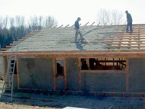 Isolation chaux chanvre toiture