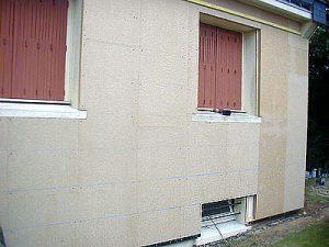 Isolation extérieur matériau béton de chanvre