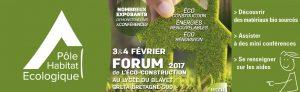 Forume de l'Éco Constrcution à Pontivy - Février 2017