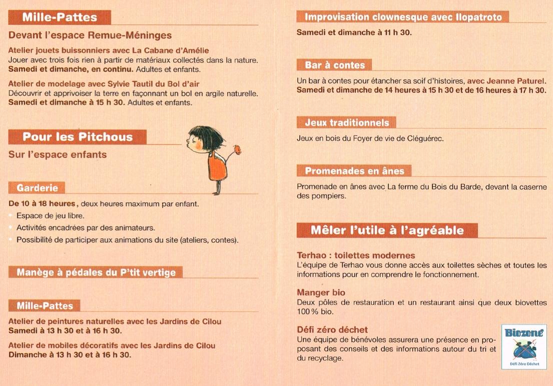 Foire Biozone - Programme